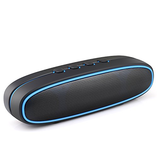 Airke Portable Wireless Bluetooth V3.0+ Speaker with 10W Bass Sound, Built-In Mic, TF Card Slot, Handsfree Calling, Perfect Wireless Speaker for iPhone, iPad, Samsung and more, Black/Blue