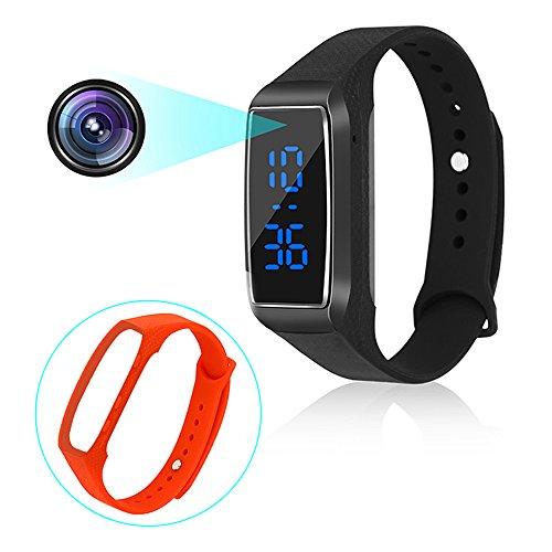 Sport Watch Kameras 1080P Smart Armband Stil Mini-Videorekorder Kamera mit Zeitanzeige und mehrsprachige Handbuch MEHRWEG