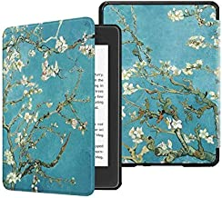 Slimshell Case for All- Kindle Paperwhite (10th Generation, 2018 Release) - Premium Lightweight PU Leather Cover with Auto...