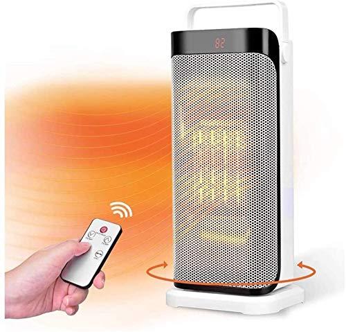 Calentador de espacio de calentador de espacio eléctrico portátil con control remoto - ventilador de calentador de torre de cerámica caliente instantáneo para oficina con función de oscilación de term