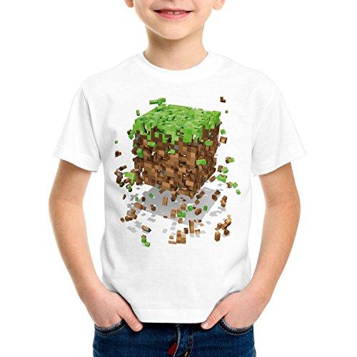 A.N.T. Exploding Cube T-Shirt pour Enfants Block dé Jeu vidéo Game, Taille:152