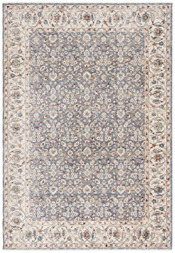 Safavieh Heirloom Collection HRL701A Traditional Oriental Area Rug, 3' x 5', Ivory / Blue