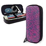 Pink Lines PU Leather Pouch Storage Bags Portable Student Pencil Papeterie Bag Zipper Wallets Makeup Bag