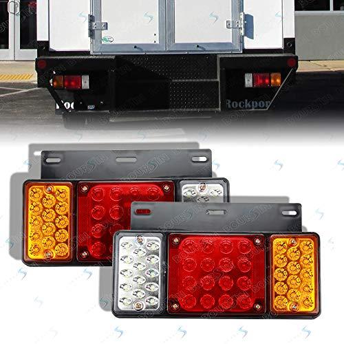12V 44 LEDs Rear Lamp Tail Lights For GMC W Series Isuzu Elf Truck NPR NPR-HD NKR NHR NRR FSR FRR 1984- Taillight Assembly (Waterproof level IP66)