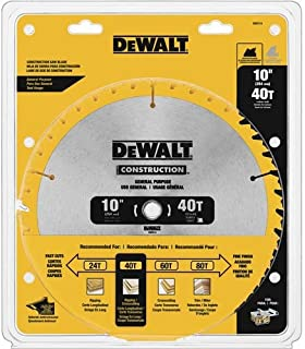 DEWALT DW3114 Series 20 10-Inch 40 Tooth ATB Thin Kerf Saw Blade with 5/8-Inch Arbor