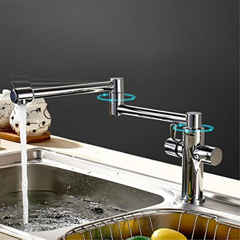 SUNWUKONG Küche Sinken AAAA Standard Tülle Doppelt Hebel 360 ° Drehbar, Flexibel Bad Bad Becken Hei und kalt Rührgert BBBB, Modern Chrom Toilette CCCC