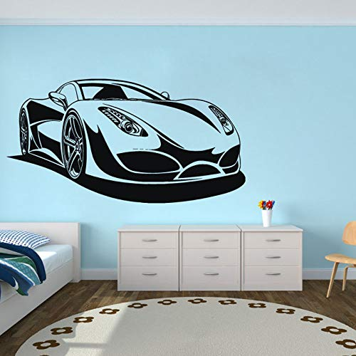 Tianpengyuanshuai vinyl sticker kunstenaar hoofdedecoratie wandschilderij sportwagen racing speed ​​ Decal baby decoratie jongens slaapkamer