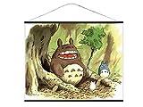 CoolChange XXL Totoro Rollbild aus Stoff | Kakemono 100x81cm | Großes Anime Wandbild | Motiv: Chibi, Chu, Totoro