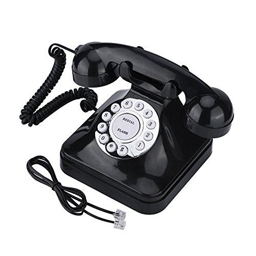 Teléfono fijo Vintage Retro Wire Teléfono fijo con cable Teléfono Old Fashioned Teléfono Reemplazo para la casa y la oficina Decor