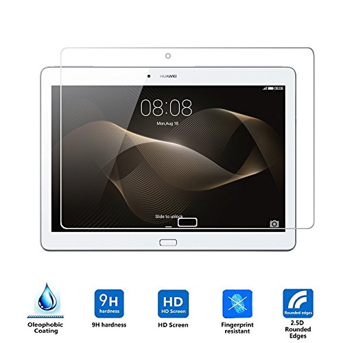 Huawei Mediapad M2 10.0 Cristal Templado,Vikoo 9H 0.3mm Ultra Delgado Shatterproof Pantalla de Vidrio Templado HD Flim Tempered Glass Screen Protector para Huawei Mediapad M2 10.0''