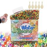 Perlas de Agua, 50.000 Perlas de Agua para niños, Perlas de Gel para decoración de Mesa, Flores Reutilizables, Plantas y Bolas de Agua para jarrones, Regalos de Bricolaje (1,5-2 mm) (Blue)
