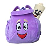 Dora Backpack,Purple Dora Explorer Soft Plush Backpack , For Backpacks Pre-Kindergarten Toys Birthday And New Year Gifts