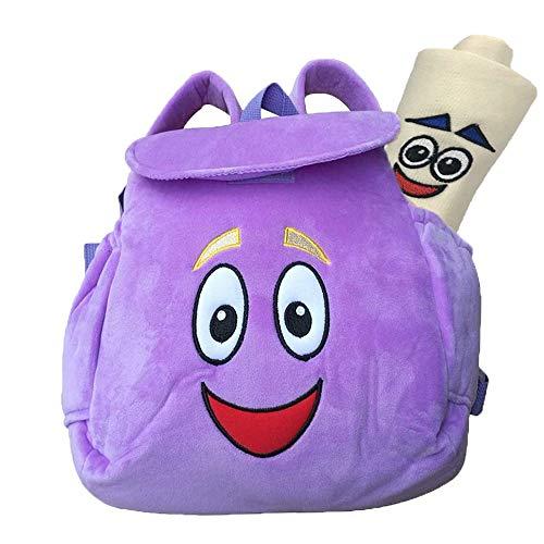 Dora Rucksack, lila Dora Explorer weicher Plüsch-Rucksack, für Rucksäcke, Kindergarten-Spielzeug, Geburtstags- und Neujahrsgeschenke