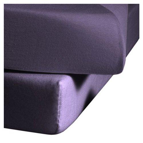 fleuresse Jenny C klassisches Jersey-Spannlaken, 100{ebc5d936d34781a77321519acac6e9befde7e762b1fd2fbfdb1c2f19384c9675} Baumwolle, mit praktischem Rundumgummi, Fb. Lavendel, Größe 100 x 200 cm, auch passend für 90 x 190/200