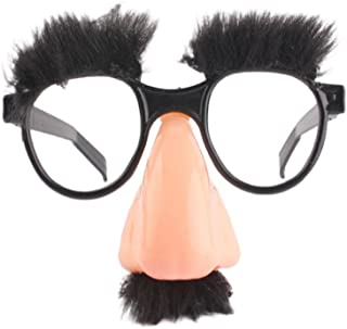 Toyvian Gafas de Disfraz - Prop de Gafas de Bigote clásico