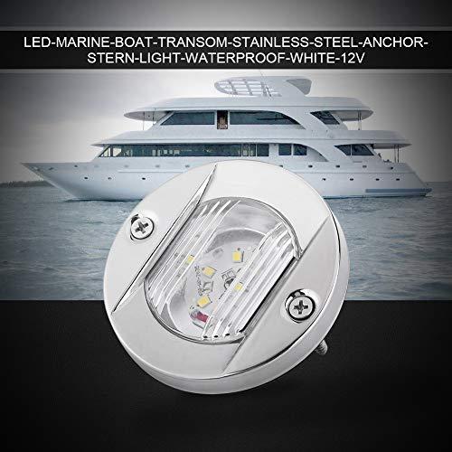 LED Marine Boot Riegel Licht, LED Heck Licht 12V Marine Boot Riegel Weiß LED Edelstahl wasserdicht Anker Heck Navigationslicht