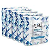 Amazon Brand - Presto! 3-Ply Quilted Toilet Tissues, 45 Rolls (5 x 9 x 200 sheets) - Pattern: Gem