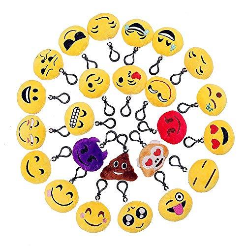 Emoji sleutelhanger, emoji pluche schattig knuffeldier soft party bag fuller sleutelhanger feest Favors auto telefoon decoratie