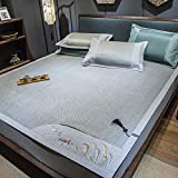 lxylllzs Cooling Topper Bed <span class='highlight'>Mattress</span> Rattan,Three-piece ice silk summer mat can be stacked rattan mat -150 * 200cm three-piece suit_2,Summer Rattan Mat <span class='highlight'>Bamboo</span> <span class='highlight'>Mattress</span>