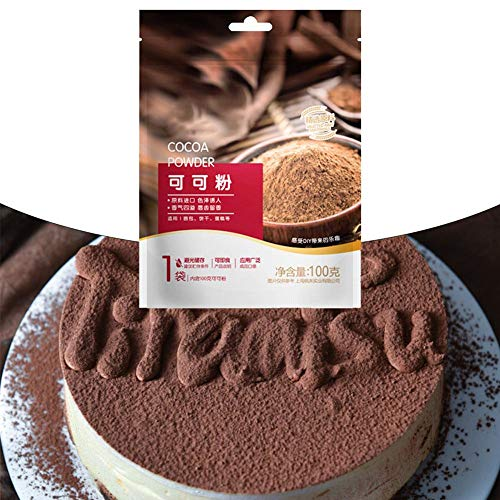 Set Cocoa Poeder Gealkaliseerd Cocoa Poeder + Cocoa Dredges Fijn Mesh Deksel Instant Drink Sneeuwvlok Crisp Nougat Keuken Dessert Bakken Ingrediënten Ideaal voor Bakken, Hete Chocolade Drankjes En Smoothies
