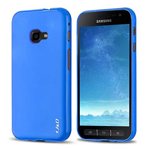 JundD Kompatibel für Galaxy Xcover 4 Hülle, [Leichtgewichtig] [Fallschutz] Stoßfest TPU Slim Hülle für Samsung Galaxy Xcover 4 - Blau
