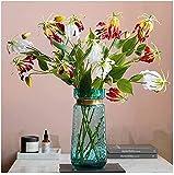 fiori artificiali artificiale giglio artificiale bouquet soggiorno sala da pranzo tavolo da pranzo fiori filtro fiori seta silk flower flower arrangiata hotel interno soft outfit ufficio party art hal