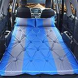 evergremmi selbstaufblasende Auto-Luftmatratze – strapazierfähige aufblasbare SUV-Matratze, Autoverdickung, aufblasbare Matratze, Bett mit Aufbewahrungstasche für Camping, Wandern, Reisen, blau