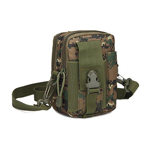 Taktische Hüfttaschen, Molle Tasche Gürteltasche Molle Beutel Militär Ideal für Outdoorsport Multifunktionen Praktische Ausrüstung(Typ 6)