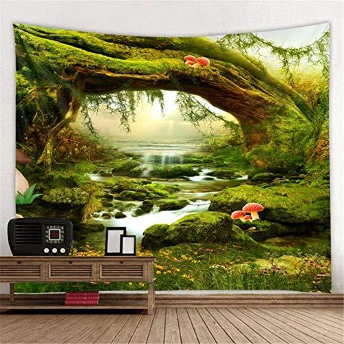 yyyDL wandtapijt 3D waterval tapijt natuur Indiase muur opknoping slaapkamer muur tapijt