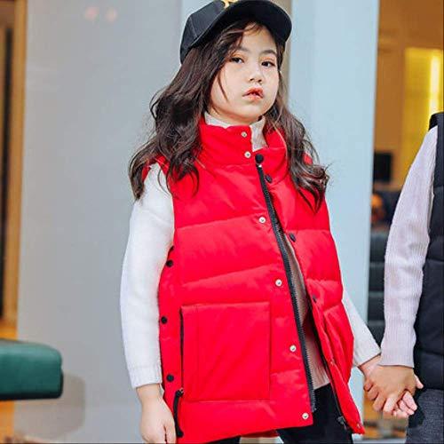 FDSAD Garçon Extérieur Veste Chaude Gilet Hiver Nouveaux Vêtements pour Enfants Petite Fille Veste Camouflage Veste Convient pour La Hauteur 130Cm Rouge