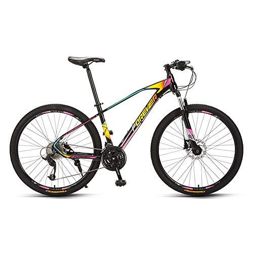 Bicicleta, Bicicleta de montaña todo terreno de 27,5 pulgadas, Bicicleta de 27 velocidades, Marco de aleación de aluminio ultraligero, Para adultos y adolescentes, Con herramientas de instalación