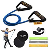 SYOSIN Professional Tube Exercise Resistance Band with Comfortable Handles, Ideal for Physical Therapy, Strength Training, Muscle Toning, Door Anchor Storage Bag Included
