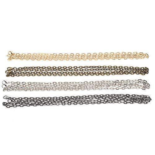 4 piezas correa de cadena de bolso 1 metro bandolera de metal reemplazo de cadena de hierro bolso plano correa de cadena hombro para monedero bolsos bandolera