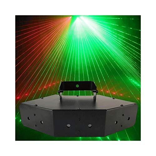 QFQ LED Luces de discoteca, 6 picos línea de exploración luces de dj parte del haz con control de voz luces del disco de cumpleaños del baile del concierto KTV Bar Club Vocal