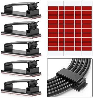 Lot de 50 clips de câble adhésifs 3M pour câbles Ethernet et système de gestion de câbles pour TV, PC, ordinateur portable...