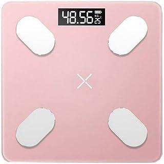 Báscula de baño digital Piso báscula de baño peso de la escala de peso digital de mini analizador de composición electrónica inteligente Bluetooth índice de masa corporal con balanza APP báscula peso