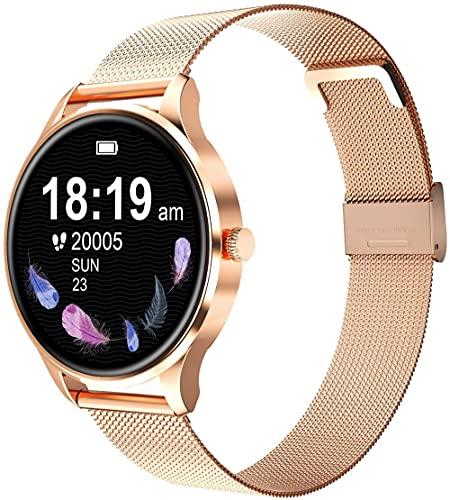 Reloj inteligente compatible Ios hombres y mujeres natación impermeable reloj smartwatch fitness Tracker monitor de ritmo cardíaco digital dorado