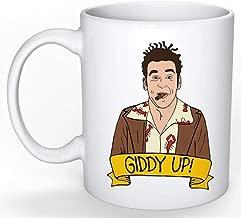 SkyLine902 - Cosmo Kramer Mug (Jerry Seinfeld, Elaine Benes, George Costanza, Larry David, Curb your Enthusiasm), 11oz Ceramic Coffee Novelty Mug/Cup, Gift-wrap Available