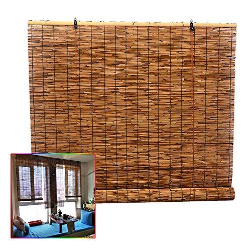L-KCBTY Persianas De Bambú |Persiana Estor De Bambú| Decoración De Pasillo/terraza/glorieta|Cortina De Madera Estor Enrollable|Interior/Exterior|Personalizado