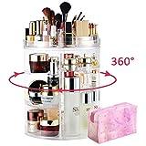 LIVEHITOP Organizador de Maquillaje 360° Giratorio, Grande Capacidad...