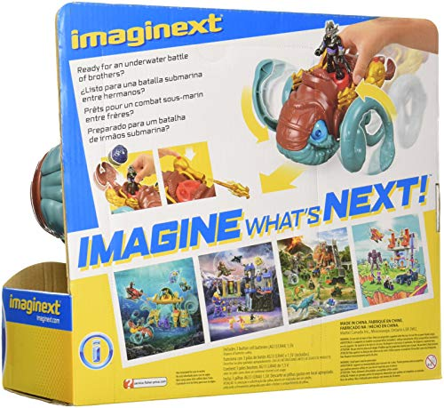 Fisher-Price Imaginext DC Super Amigos Aquaman, Criatura del mar y del océano Maestro Multicolor 5