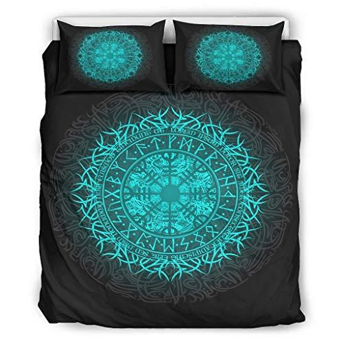 Go Go Grifendoor Tagesdecken hautfreundlich & weich - Bettdecken-Sets 1 Bettbezug&2 Kissenbezüge lichtbeständig White 168x229cm