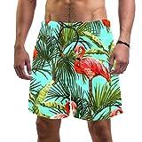 Maikoler Bañador Tropiacal Flamingo Green Leaves Natación Surf...