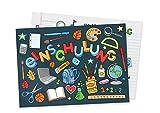 Friendly Fox Einladung Einschulung - 12 Einladungskarten Einschulung Junge Mädchen - Einladung zum Schulanfang für Familie & Freunde - Karte Einschulung - ABC