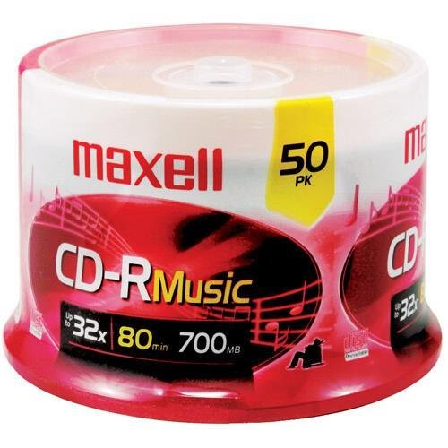 Maxell 625156 CD-R 80 MUSIC 50 PACK