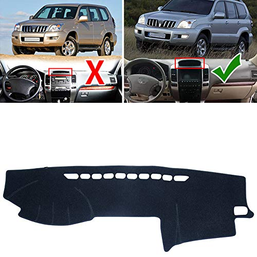 HKPKYK for Toyota Land Cruiser Prado 120 J120 2003~2009, Anti-Slip Mat Dashboard Cover Pad Sunshade Dashmat Accessories