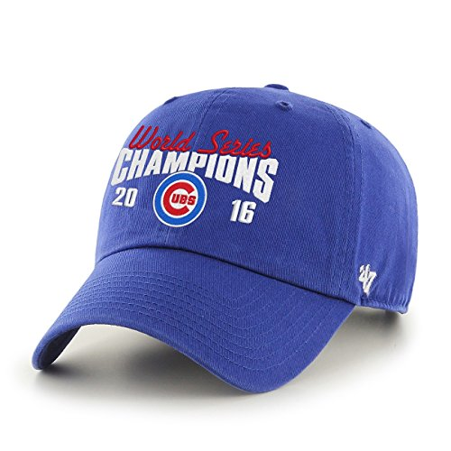 47 Chicago Cubs 2016 World Series Champions Script Clean Up Cap