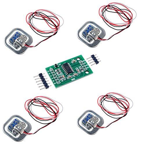 4 stücke Wägezelle 50kg gewicht Sensor halbe brücke Menschlichen Körper Skala Dehnungsmessstreifen + 1 stücke HX711 Verstärker AD Wägemodul für Arduino DIYmalls