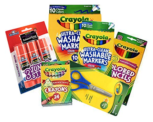 Basic Crayola School Supply Kit – Back to School 6 Items...