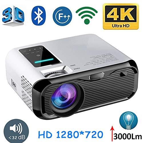 JLCN 720P HD Mini proyector Portable, 1280 * 720 3000lumens LED de vídeo de Diapositivas portátil for Cine Port Beamer HDMI
